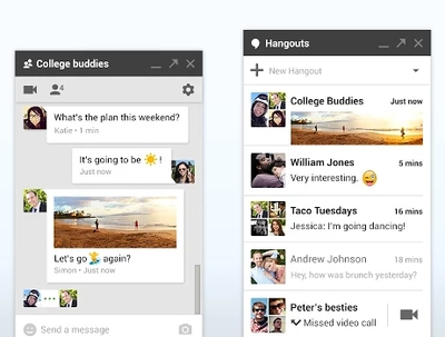 Google Hangouts (Chrome)