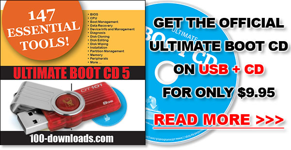 Get the official Ultimate Boot CD